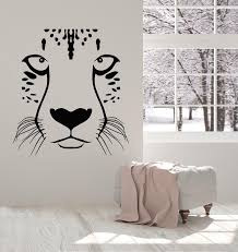 Vinyl Wall Decal Animal Predator Leopard Panther Big Cat Head Stickers Wallstickers4you