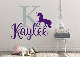Amazon Com Personalized Custom Unicorn Magic Name Wall Decal Sticker Customized Choose Size Color Handmade