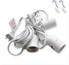 triple socket pendant light cord w
