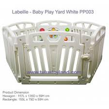 L Abeille Baby Play Yard White Pp003 Baby Playpen Plastic Fence