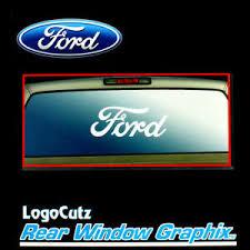 Big Ford Logo White Vinyl Decal Emblem Graphic Sticker For Car Truck Rear Window Ebay