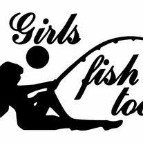 Girls Fish Too Women Decal Outdoor Vinyl Weather Resistant Handmade Big Tees Printing Online Store Powered By Storenvy