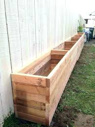 flower boxes as large wooden garden