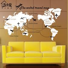 World Map Vinyl Wall Decal Map Of World Airplane The World Travel Map Lettering Wall Sticker Living Room Bedroom Home Decoration Wall Decals World Map Map Of The Worldmap Of World Aliexpress