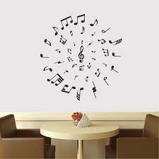 Music Circle Wall Decal Music Vinyl Wall Decal Sticker Removable Wall Art Bedroom Music Wall Decor Trendy Wall Designs