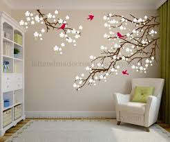 Living Room Wall Decals Cherry Blossom Decal Cherry Etsy Tree Wall Decal Living Room Wall Decals Living Room Living Room Wall