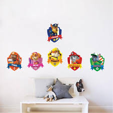 Paw Patrol Kids Wall Decal For Bedroom Apartment Wall Decor Toys Kids American Wall Designs