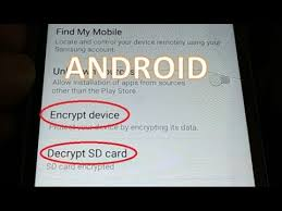 decrypt sd card and smart phone data