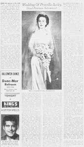 Wedding of Priscilla Bailey and Lloyd Earl Peterson. - Newspapers.com