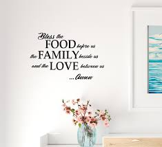 Wall Decal Food Family Love Religion Kitchen Interior Vinyl Decor Blac Wallstickers4you