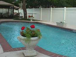 Pool Fence Panel Privacy Fence With Lattice Midland Vinyl Products