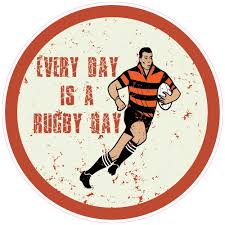 Every Day Is A Rugby Day Circle Sticker U S Custom Stickers