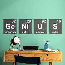 Trule Genius Periodic Table Wall Decal Reviews Wayfair