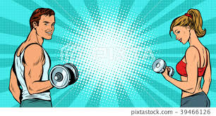 fitness sports background man and