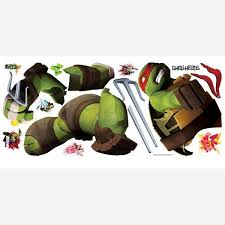 Roommates 5 In X 19 In Teenage Mutant Ninja Turtles Ralph Peel And Stick Giant Wall Decals Rmk2251gm The Home Depot