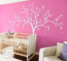 Pink Wall Wall Decal For Baby Room Pink Decal Amelia Etsy Bigtree Nursery Wall Decals Nursery Diy Projects Wall Decals