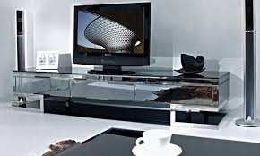 tv cabinet stainless steel black