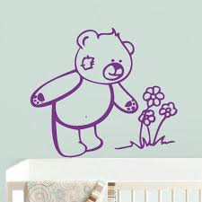 Amazon Com Stickersforlife Bear Wall Decals For Kids Black Bear Wall Art Bear Wall Decal Bear Wall Decals Nursery Bear Wall Decor Bear Wall Stickers Z687 Home Kitchen