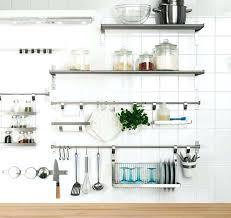 metal kitchen wall shelves