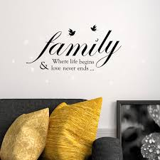 swarovski crystals family quotes murals decals home decoration