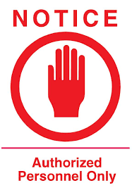 Authorized Personnel Sign Wall Decal