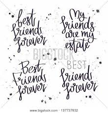 best friends forever vector photo trial bigstock