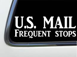 Amazon Com Thatlilcabin U S Mail Frequent Stops Car Window Decal Rural Carrier 8 Window Sticker As1287 Automotive