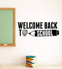 Amazon Com Welcome Back To School Decal Congratulations Banner Education Inspirational Quote Wall Vinyl Sticker Vinyl Lettering Art Best Classroom Decor Made In Usa Fast Delivery Home Kitchen