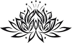 Lotus Flower Vinyl Decal Yoga Wall Sticker Lily Atr Murals Home Wall Decor Amazon Ca Home Kitchen
