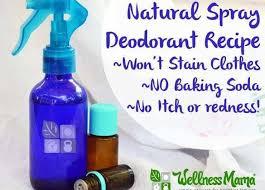 homemade natural spray deodorant recipe