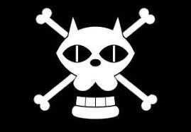 One Piece Black Cat Jolly Roger Die Cut Vinyl Sticker Decal Sticky Addiction