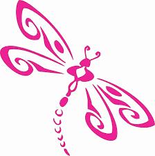 Amazon Com Pink Dragonfly Die Cut Vinyl Window Decal Sticker For Car Truck 5 X5 Kitchen Dining
