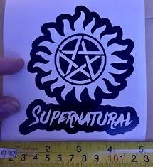 Supernatural Anti Possession Symbol Vinyl Decal Sticker Car Truck 75108 Auto Parts And Vehicles Other Car Truck Decals Stickers Magenta Cl