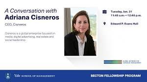 A Conversation with Adriana Cisneros, CEO of Cisneros, a Becton Fellowship  Program - YouTube