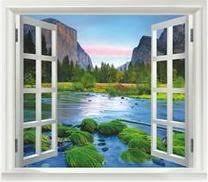 Amazon Mountain River View Faux Window Decal Ndash 10 The Centsable Shoppin