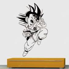 Ds076 Goku Dragon Ball Decorative Painting Vinyl Wall Sticker Cartoon Figure Decals For Kids Room Sale Price Reviews Gearbest