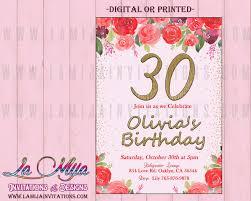 30th Birthday Invitations Customized Item 30th Party Invitations