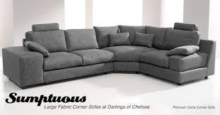 sumptuous large fabric corner sofas