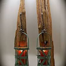 driftwood sconce with turquoise from
