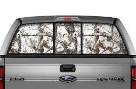 Ford F150 Rear Window Decals White Camo Racerx Customs Truck Graphics Grilles And Accessories