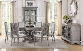 Artesia Round Dining Room Set By Acme Furniture Furniturepick