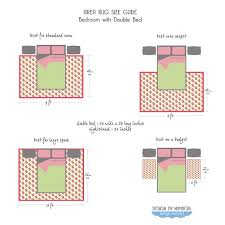 area rug size guide double beds