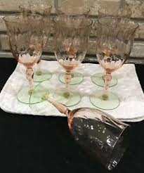 water wine glasses etched