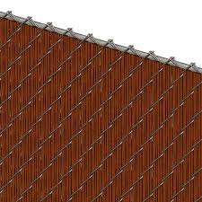 Pds Ws Chain Link Fence Slats Winged Slat 5 Foot Redwood