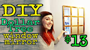Dollar Tree Diy Farmhouse Window Mirror Youtube