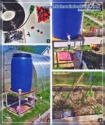 homemade drip irrigation system with