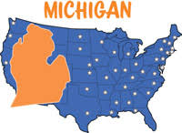 Fifty States: Michigan Clipart - Illustrations - Michigan Graphics