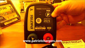 Patriot Pe5 110 120v Ac Powered Electric Fence Charger Energizer Youtube