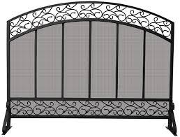 44 single panel black wrought iron