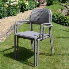 nardi bora stacking dining arm chair